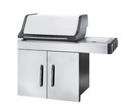 Stainless steel gas cooker with oven Stock Images