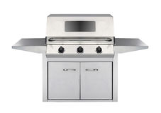 Stainless steel gas cooker with oven Royalty Free Stock Photography