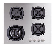 Stainless steel gas hob Stock Image