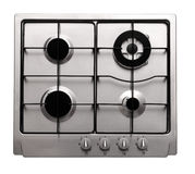 Stainless steel gas hob Stock Photo