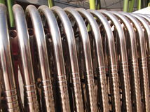 Stainless steel gate Royalty Free Stock Images