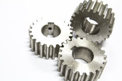 Stainless steel gear Royalty Free Stock Images
