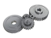 Stainless steel gears. Isolated on white Stock Illustration