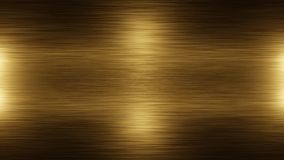 Stainless steel golden metal background texture. Incident light on the texture of the gold metal. royalty free illustration