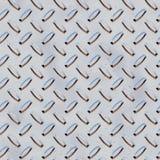 Stainless steel grid plate. 3d illustration of stainless steel aluminum metal grip plate seamless pattern vector illustration