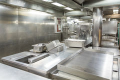 Stainless Steel Grill and Trays in Kitchen Stock Image