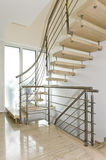 Stainless steel handrail Stock Images