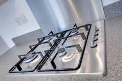 Stainless steel hob Stock Photography