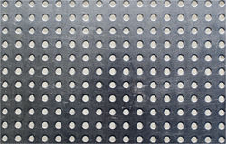 Stainless steel with holes Royalty Free Stock Photography