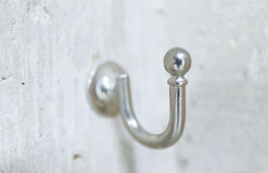 Stainless steel Hook on Wall Stock Photo