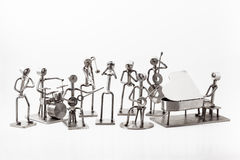 Stainless steel Jazz Band. On white you have and stainless steel Jazz Band Stock Photo