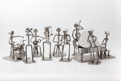 Stainless steel Jazz Band. On white you have and stainless steel Jazz Band Stock Image