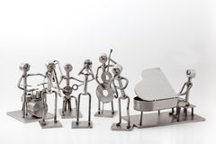 Stainless steel Jazz Band. On white you have and stainless steel Jazz Band Stock Photos