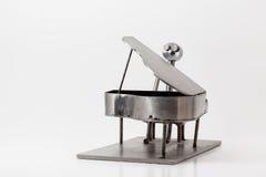 Stainless steel Jazz Piano Stock Photo
