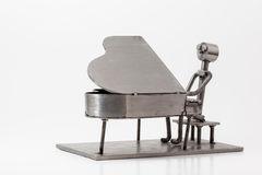 Stainless steel Jazz Piano Royalty Free Stock Image