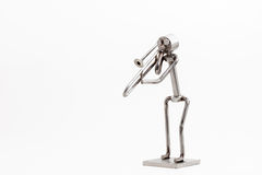 Stainless steel Jazz Trombone Royalty Free Stock Photography