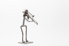Stainless steel Jazz Trombone Stock Photography