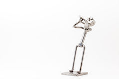 Stainless steel Jazz Trumpet. On white you have and stainless steel Jazz Trumpet Royalty Free Stock Photography