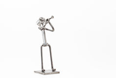 Stainless steel Jazz Trumpet. On white you have and stainless steel Jazz Trumpet Royalty Free Stock Photos