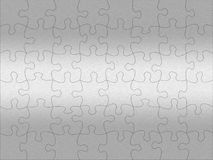 Stainless steel jigsaw pattern Royalty Free Stock Photos