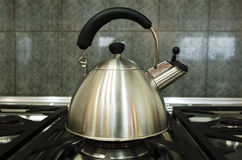 Stainless steel kettle Royalty Free Stock Photo