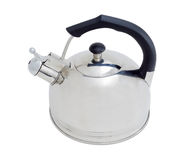 Stainless steel kettle on a light background Stock Photography