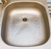 Stainless Steel Kitchen Sink. Empty Stainless Steel Kitchen Sink stock photos