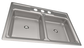Stainless steel kitchen sink Royalty Free Stock Images