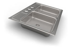 Stainless steel kitchen sink Royalty Free Stock Image