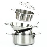 Stainless steel kitchenware Royalty Free Stock Images