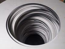 Stainless steel laser cutout circle futuristic shape cutouts Royalty Free Stock Photo