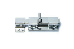 Stainless steel latch Royalty Free Stock Photo