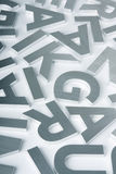 Stainless steel letters. Stylish letters cut out of polished steel Stock Photo