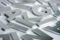 Stainless steel letters royalty free stock photography