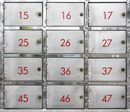 Stainless steel lockers Royalty Free Stock Images