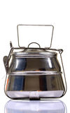 Stainless steel lunch box Stock Images