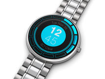 Stainless steel luxury smart watch Royalty Free Stock Photo