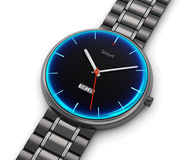Stainless steel luxury smart watch Royalty Free Stock Image
