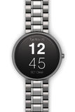 Stainless steel luxury smartwatch Royalty Free Stock Images