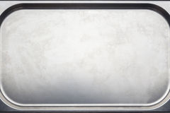 Stainless steel medical tray closeup Stock Image