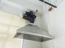Stainless steel metal ventilating chimney Royalty Free Stock Photos