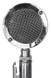 Stainless steel microphone Stock Photo