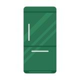 Stainless steel modern refrigerator vector illustration. Royalty Free Stock Photo