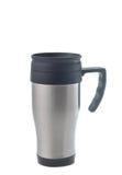Stainless steel mug Stock Photo