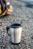 Stainless steel mug Royalty Free Stock Image