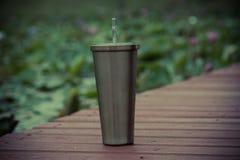 Stainless steel mug Stock Photos