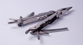 Stainless steel multitool can be used for multi purpose. Utility Royalty Free Stock Photos