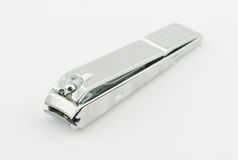 Stainless steel nail clippers isolated Stock Image