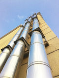 Stainless steel natural gas chimney Stock Image