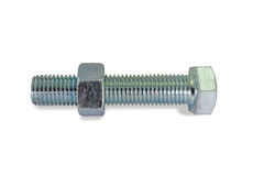 Stainless Steel Nut and Bolt Stock Photo